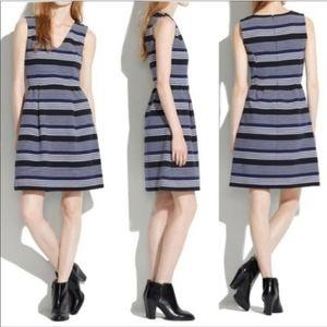 Madewell Gallerist Ponte Striped Mini Dress